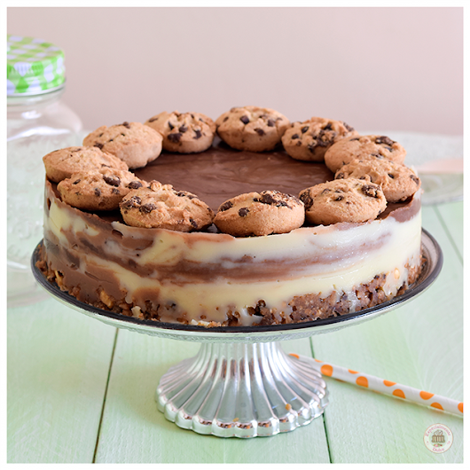Cheesecake tres chocolates y cookies (sin gluten)