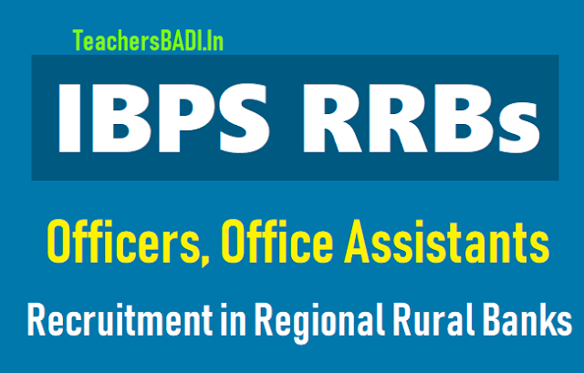 ibps rrbs officers,office assistants recruitment 2018,last date to apply for ibps rrbs officers,office assistants recruitment,ibps rrbs recruitment exam admit cards,selection lists results