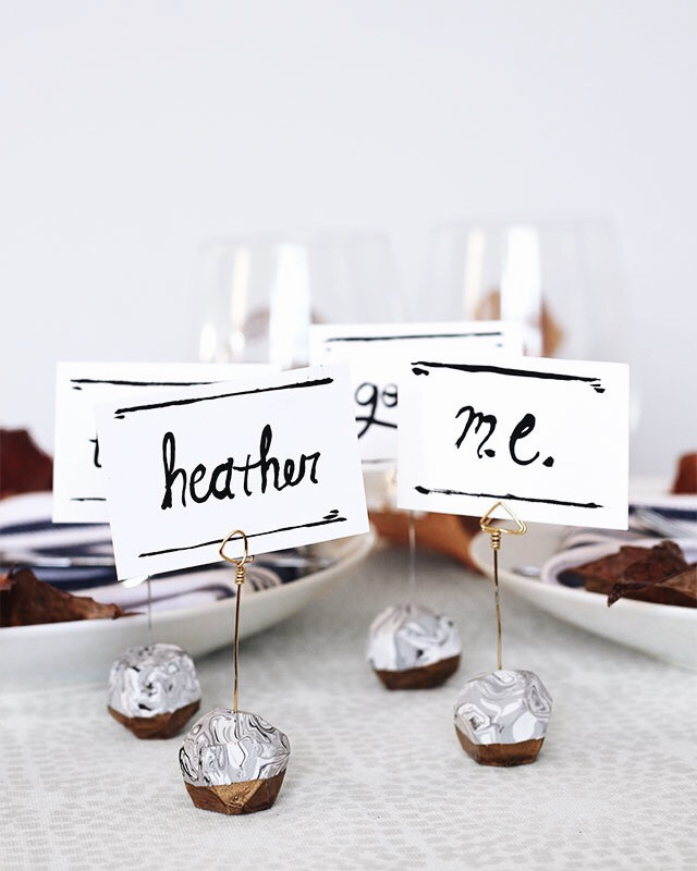 DIY place card holders