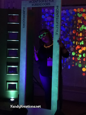 What a fun idea to use a black light and glowing photo booth props for an amazing photo booth picture