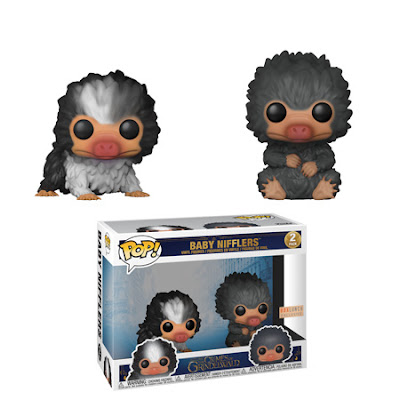 A black and gray Baby Niffler Pop! two-pack is available as a BoxLunch exclusive!