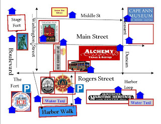 Alchemy Bistro Local Walking Tour Map for Hotel Distribution