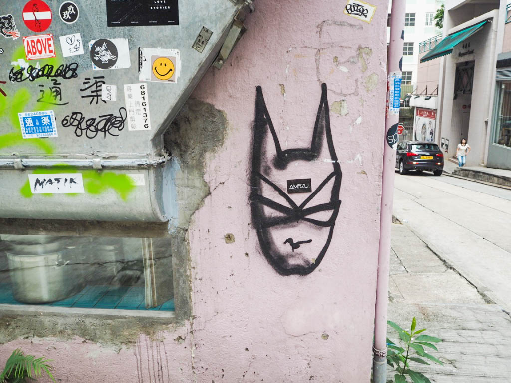 Cat woman street art