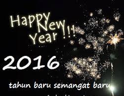 DP BBM Unik Selamat Tahun Baru 2016 kembang api