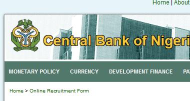 CBN Recruitment 2019 Application Form Portal