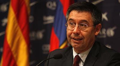Presidente do Barcelona Josep Bartomeu