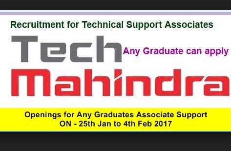 Tech Mahindra Freshers Openings For Any Graduates