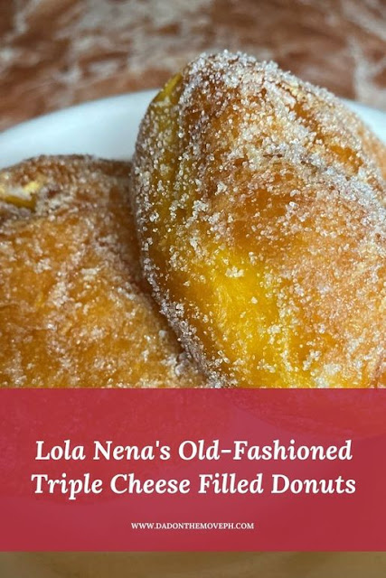 Review of Lola Nena's old fashioned triple cheese filled donut