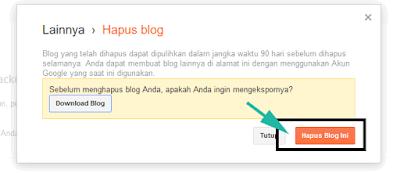 Cara Menghapus Blog Secara Sementara di Blogger