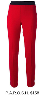 Sydney Fashion Hunter - She Wears The Pants - Parosh Red Women's Work Pants
