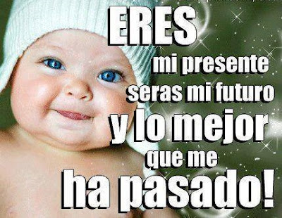 Imagenes de bebes con frases: