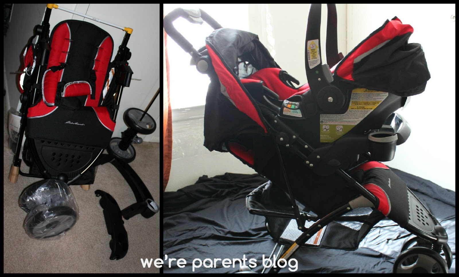 The Eddie Bauer Trail Hiker 3-Wheel Travel System - Thrifty Nifty Mommy