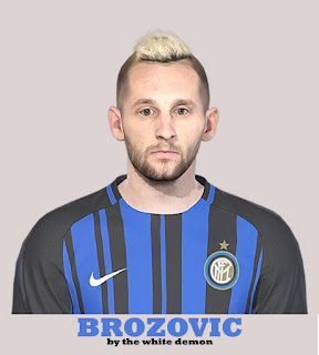 PES 2019 Faces Marcelo Brozović by The White Demon