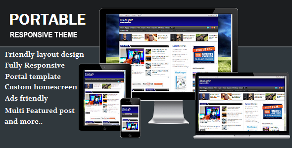 Portable Responsive Blogger Template.