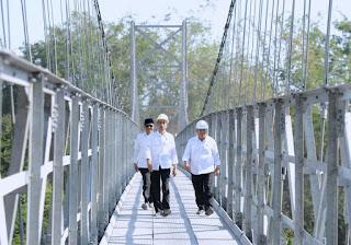 Tahun Depan Pemerintah Targetkan Pembangunan 300 Jembatan Gantung