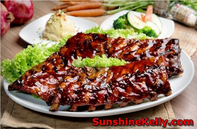 Pork sperity CNY, Porkalicious Joy Luck Set, chicago rib house, 1 Utama food, baby back ribs, plum sauce