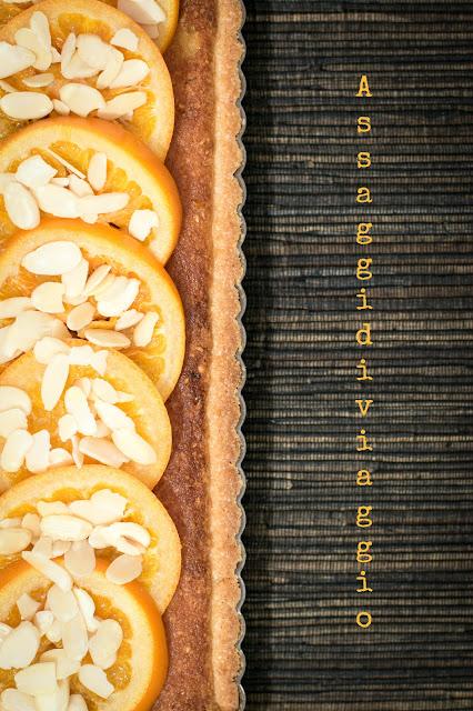 Crostata frangipane con arance glassate