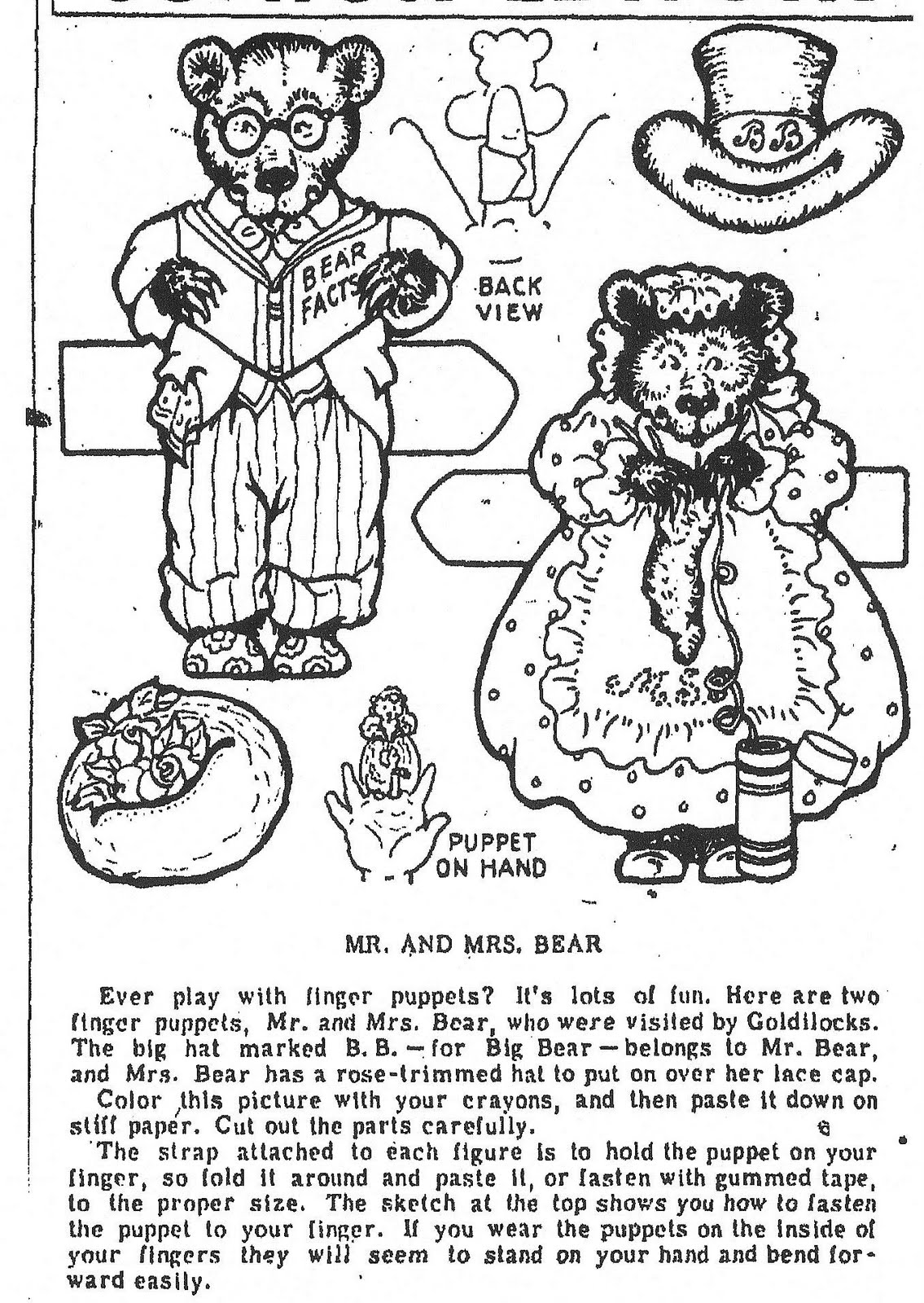 Mostly Paper Dolls Goldilocks