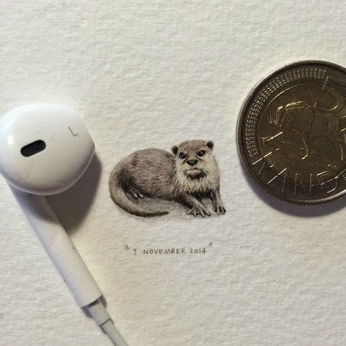 13-Otter-Lorraine-Loots-Miniature-Paintings-Commemorating-Special-Occasions-www-designstack-co
