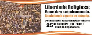 9ª Caminhada em Defesa da Liberdade Religiosa, em Copacabana, almeja receber em torno de 30 mil pessoas