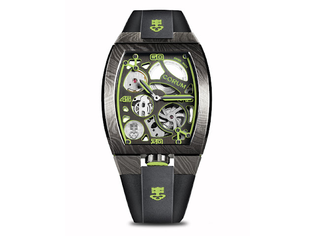 Corum unveils new models for its futuristic Lab 01 collection made in Damascus steel