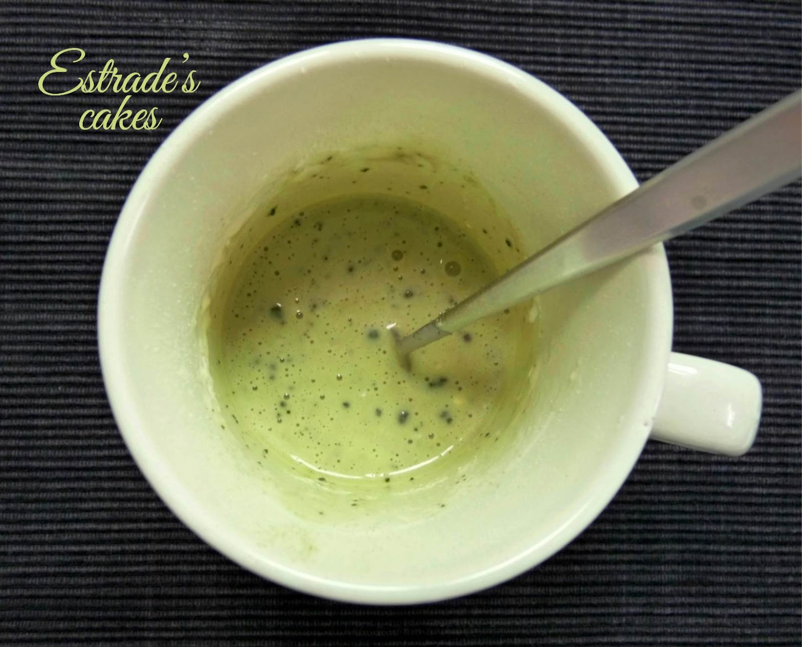 receta de mugcake de té matcha 2