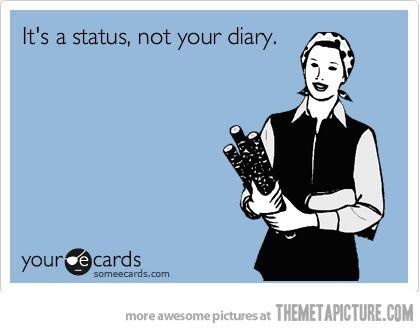 when i read status updates