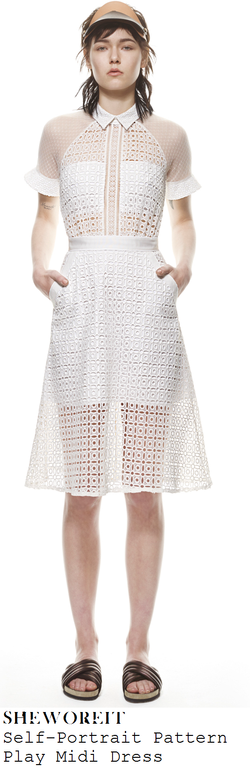 laura-whitmore-white-short-sleeve-sheer-mesh-broderie-anglaise-lace-collared-dress-get-me-out-of-here-now