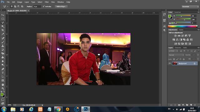 cara mengganti warna di photoshop