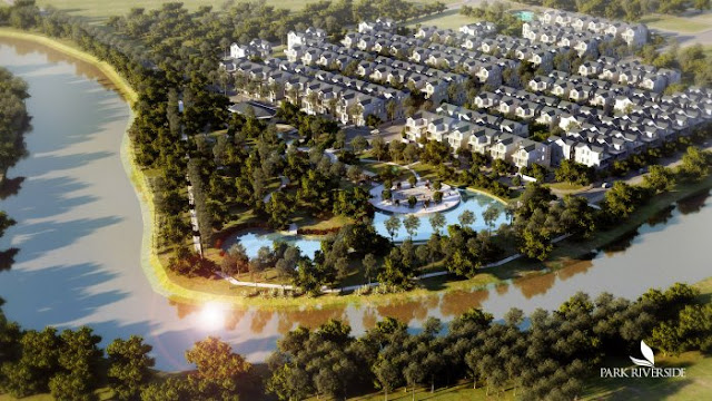 Hai mặt giáp sông và hai hồ điều tiết sinh thái nội khu Biệt thự - Nhà phố Park River Side quận 9 HCM