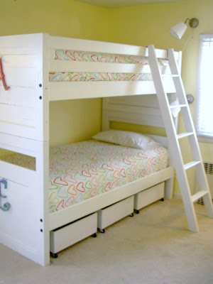 bunk beds with underbed storage bins