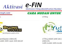 Cara Aktivasi EFIN untuk DJP Online (e-Filling dan e-Billing)