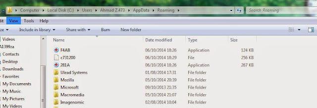 folder roaming