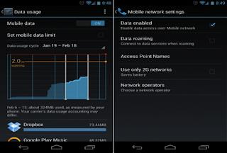 Cara Mengatur bandwith Kuota di Android