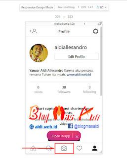Upload Foto di Instagram Lewat PC Browser Mozila Firefox