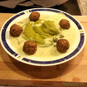 vegetarische Königsberger Klopse mit Broccoli Püree