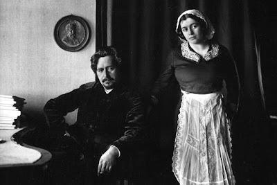 писатель Леонид Андреев со второй женой Анной