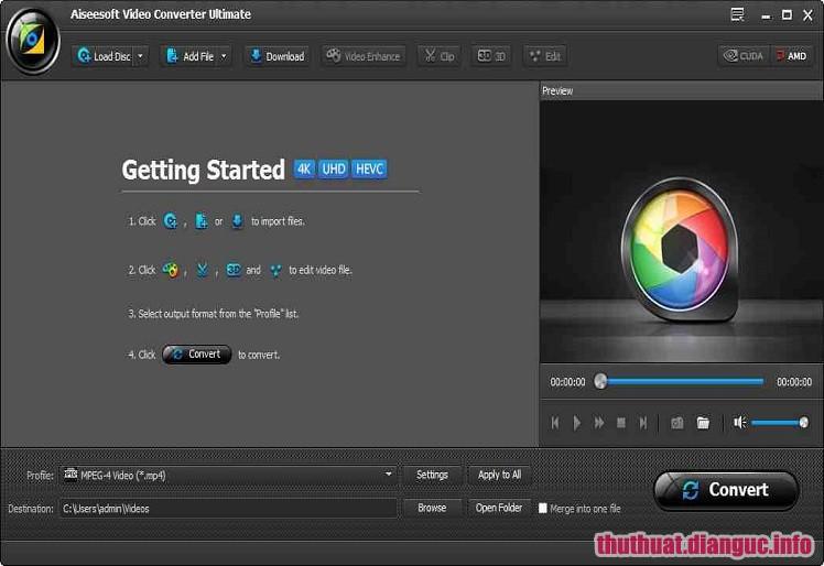 Download Aiseesoft Video Converter Ultimate 9.2.52 Full Cr@ck – Chuyển đổi định dạng Video AIO