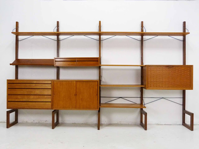 Poul Cadovius for Cado Free Standing Danish ModernTeak Wall Unit 1