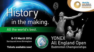 Jadwal Yonex All England Open 2016