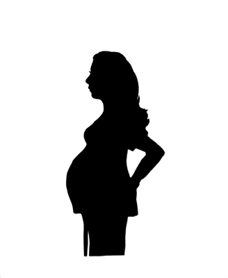 Mom to be Silhouette from life