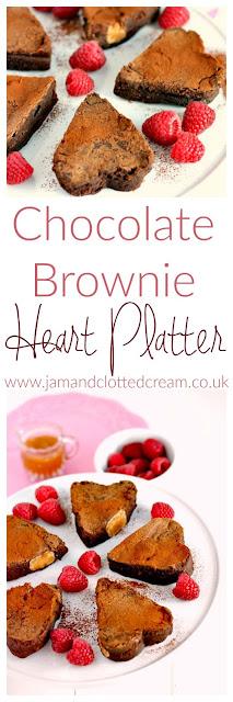 Chocolate Brownie Heart Platter