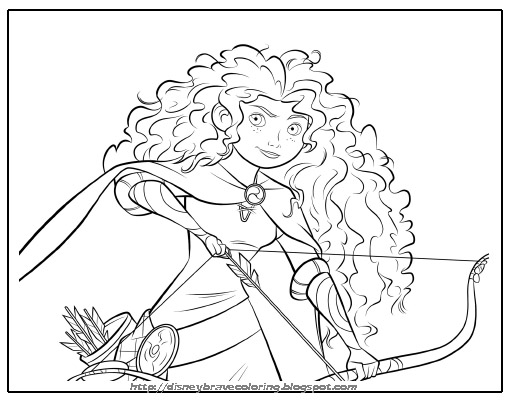 Merida Valiente Para Colorear Brave Merida Coloring Pages Dibujos