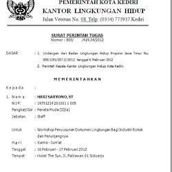Contoh Surat Perintah Kerja Tugas Spk Siamplop