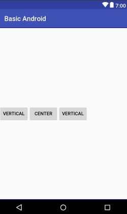 WildanTechnoArt-LinearLayout Gravity Center Vertical Example