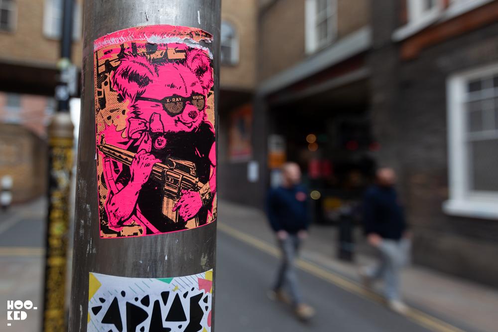 Screenprinted Shoreditch Street Art Stickers by artist Ben Rider