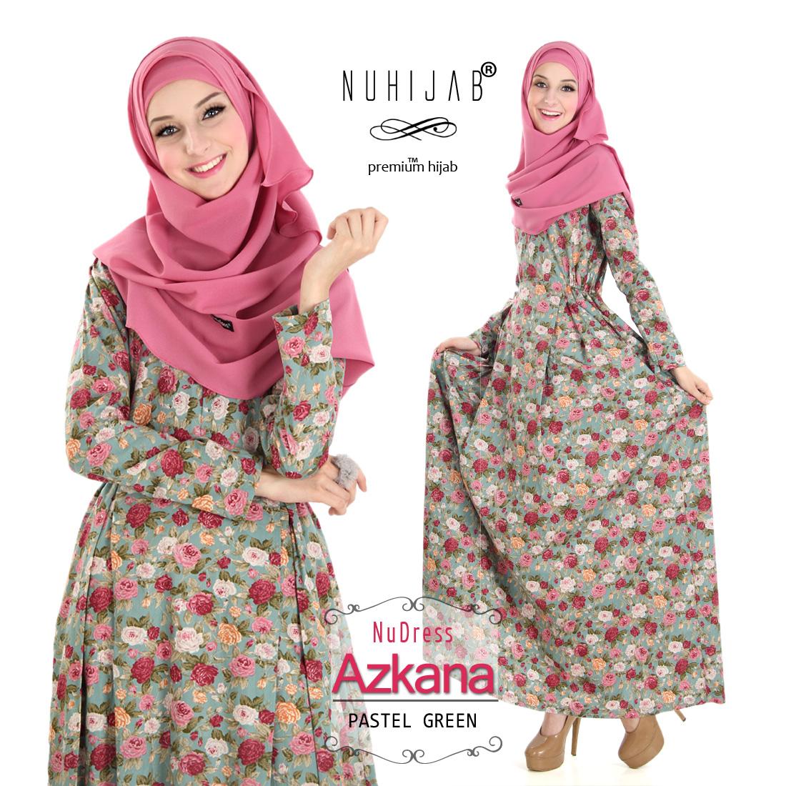 Baju Muslim Terbaru 2017 Online Nuhijab Gamis NuDress Azkana