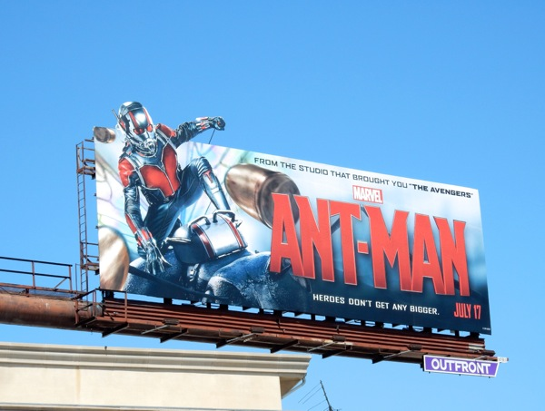 Ant-Man movie billboard