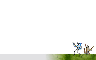 Mordecai and Rigby Regular Show Simple HD Cartoon Wallpaper