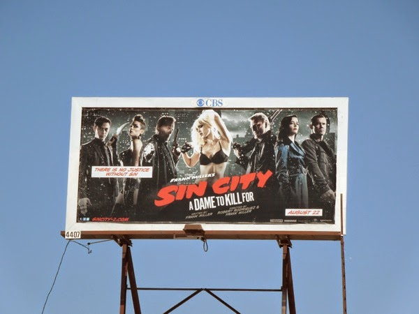 Sin City A Dame To Kill For film billboard